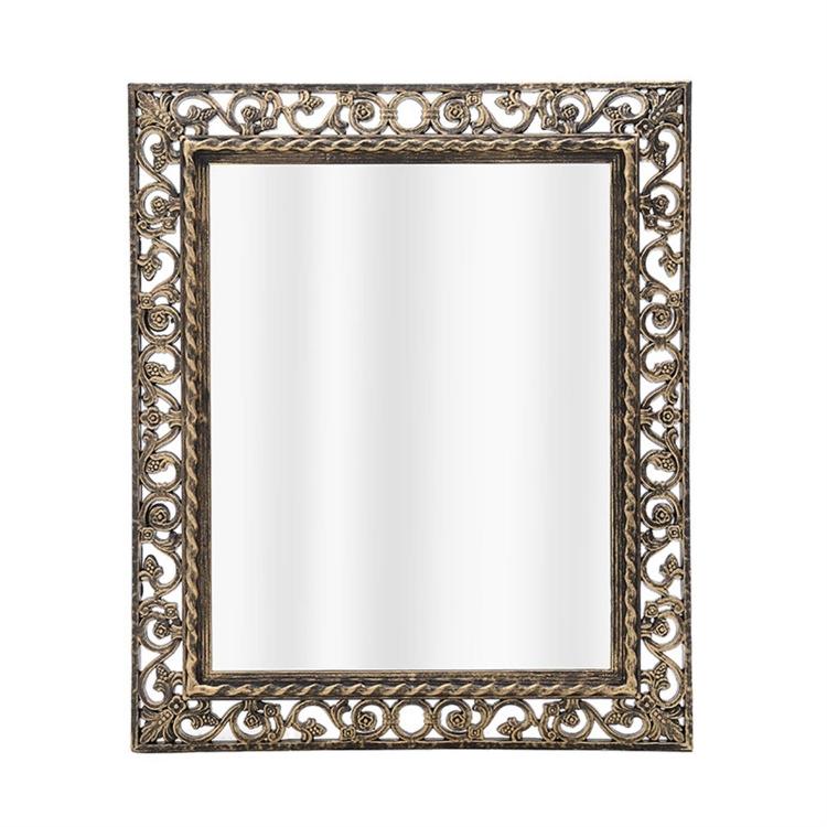 bedaffb9d3 Καθρέπτης τοίχου pl αντικέ μαύρος χρυσός 54x3.5x64 cm Inart 3-95-