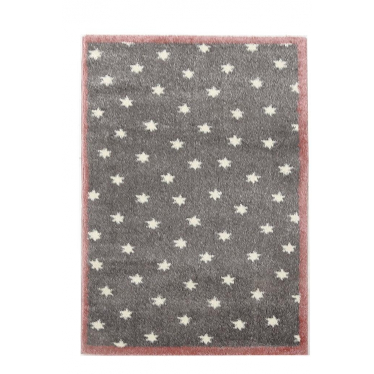 Χαλί παιδικό Dream 80x150 - 23 GREY/PINK Royal Carpet