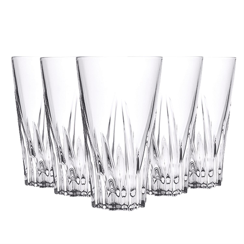 Σετ 6 ποτήρια σωλήνα Fluente κρυστάλλινα διάφανα 400ml RCR