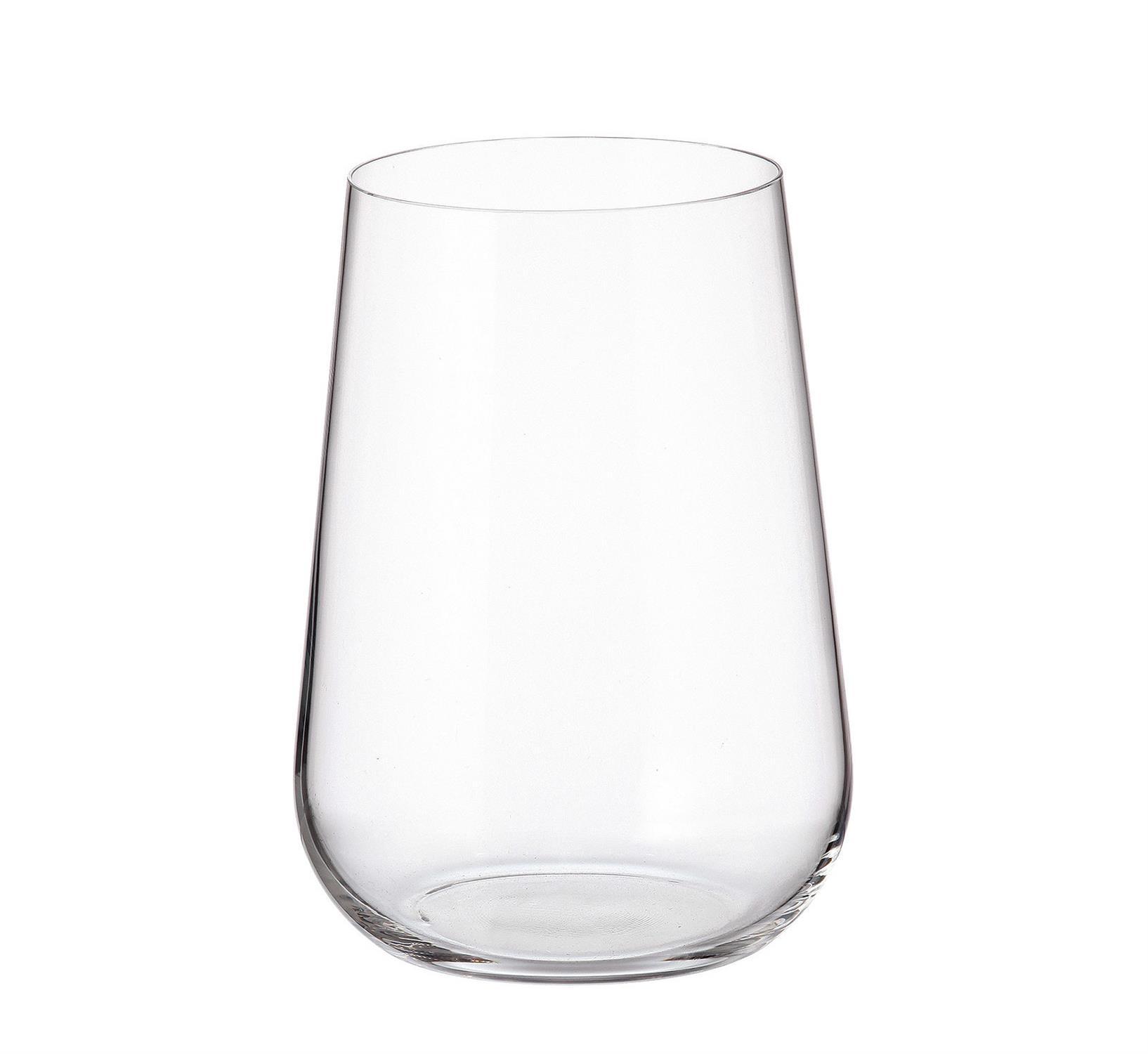 S/6 Ποτήρι σωλήνα Amundsen κρυστάλλινο διάφανο 470ml 9.1×12.7cm Bohemia