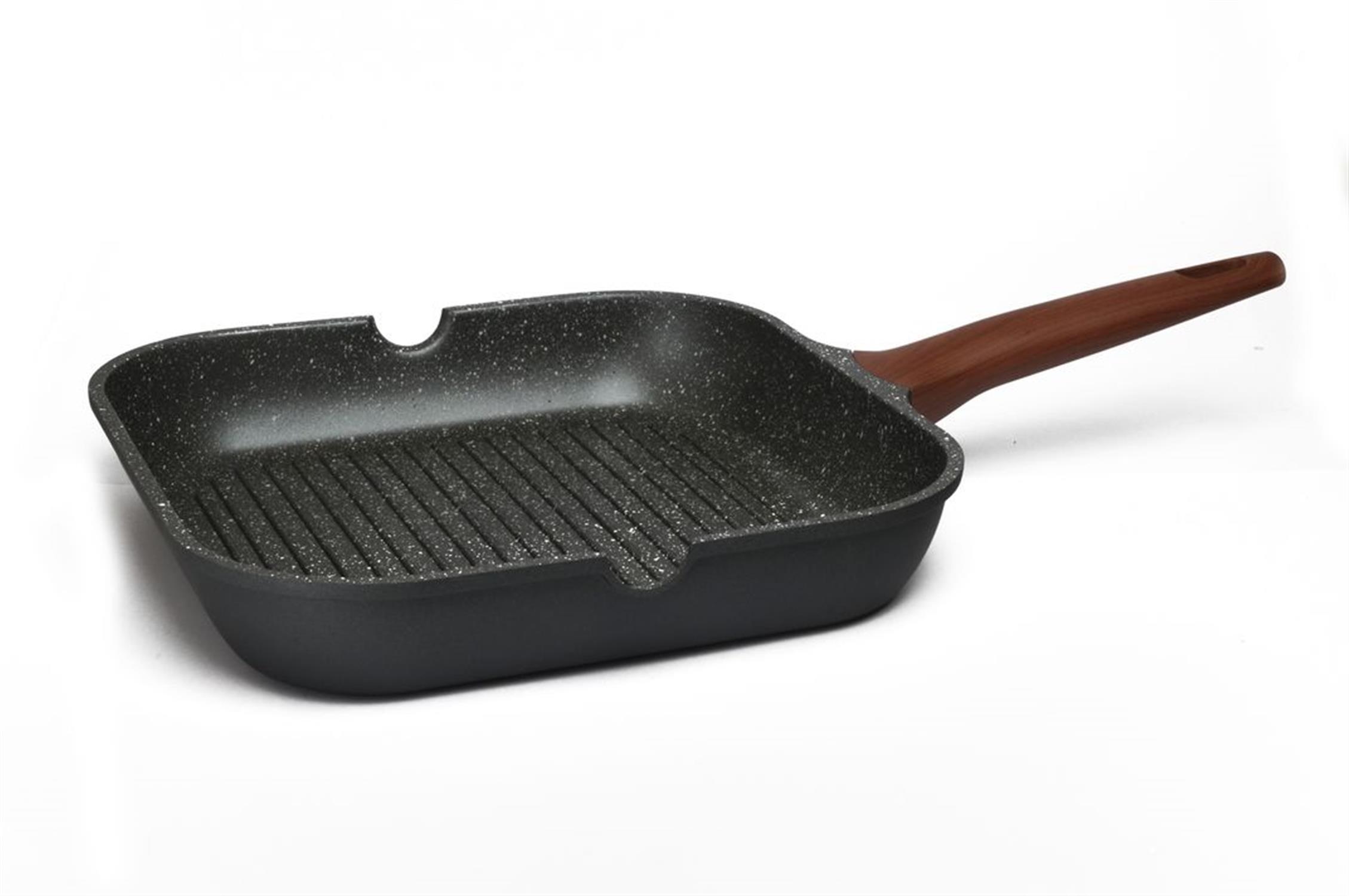 Αντικολλητικό grill pan με μαρμάρινη επίστρωση stone 28cm Estia 01-1216