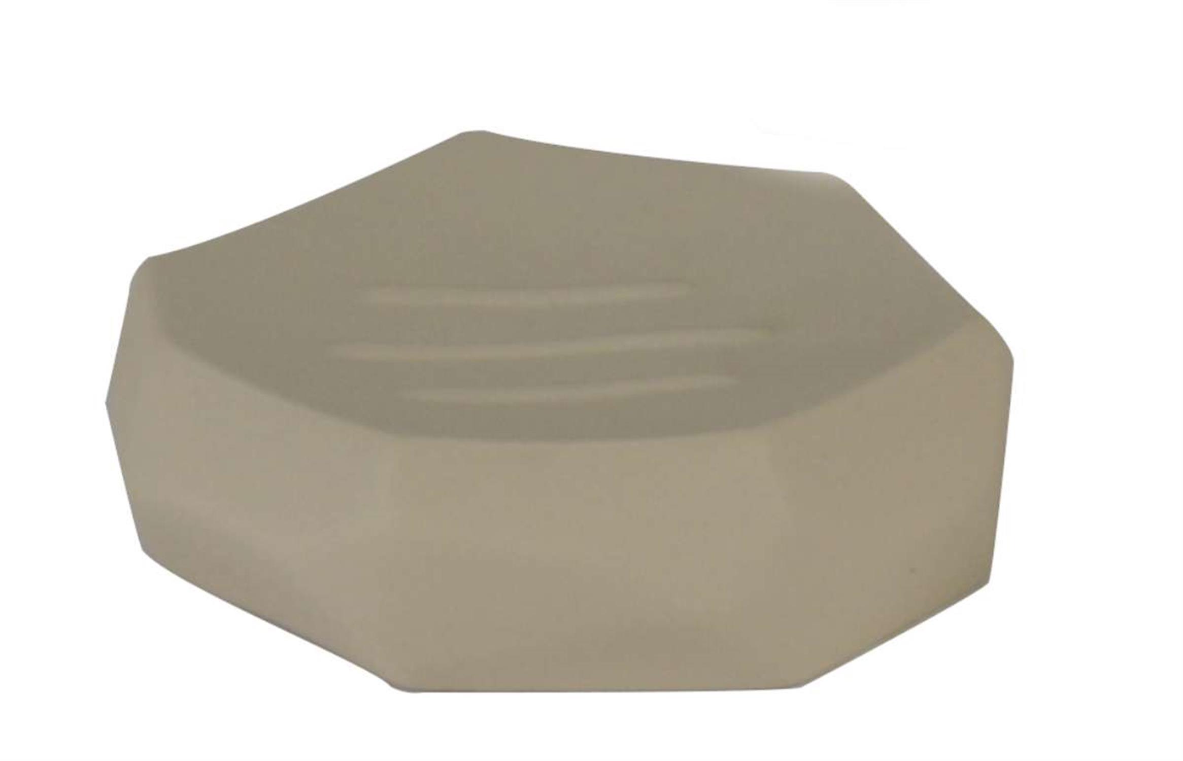 Σαπουνοθήκη βράχος μπεζ 11.8×11.8x3cm Estia 02-1933/BEIGE