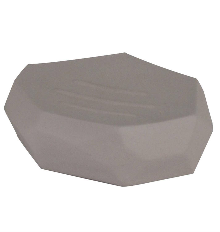 Σαπουνοθήκη βράχος γκρι 11.8×11.8x3cm Estia 02-1933/GREY