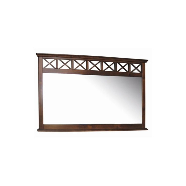 Καθρέπτης μπιζουτέ ξύλινος καρυδί 130x5x80cm Home Plus 01.01.0286