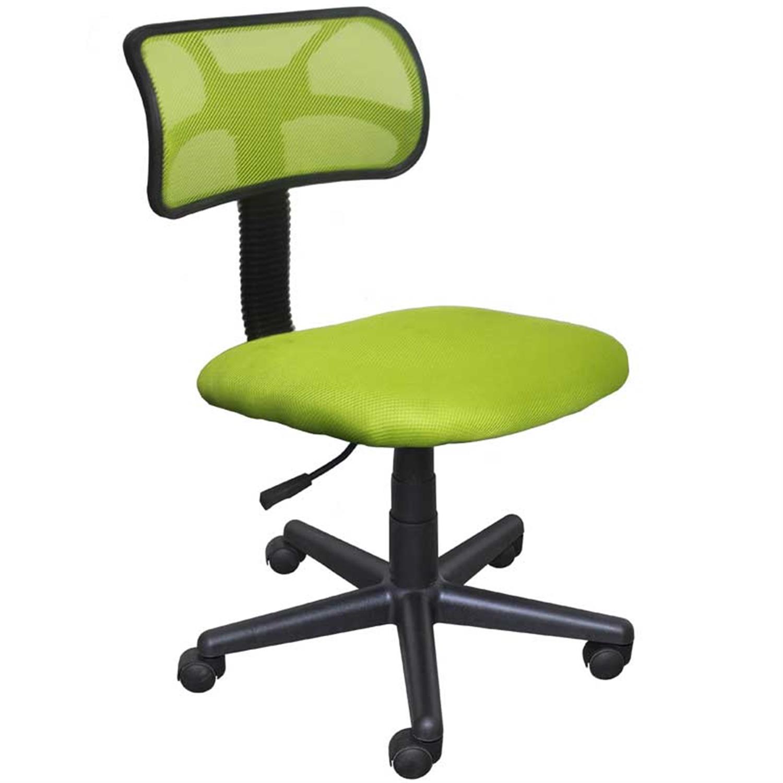 Καρέκλα γραφείου εργασίας με πλάτη, αμορτισέρ και υφασμάτινη επένδυση λαχανί 42x40x74/84cm Home Plus 01.01.0558
