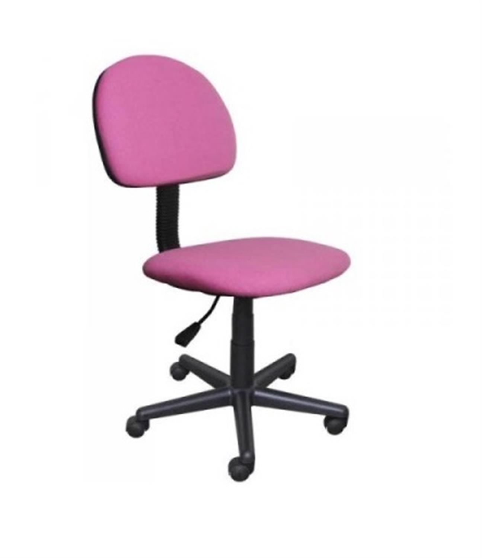 Καρέκλα γραφείου εργασίας με αμορτισέρ και υφασμάτινη επένδυση ροζ/μωβ 41x40x81/91cm Home Plus 01.01.0560