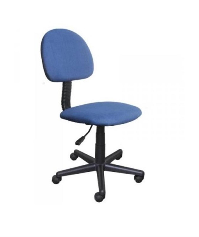 Καρέκλα γραφείου εργασίας με αμορτισέρ και υφασμάτινη επένδυση μπλε 41x40x81/91cm Home Plus 01.01.0561