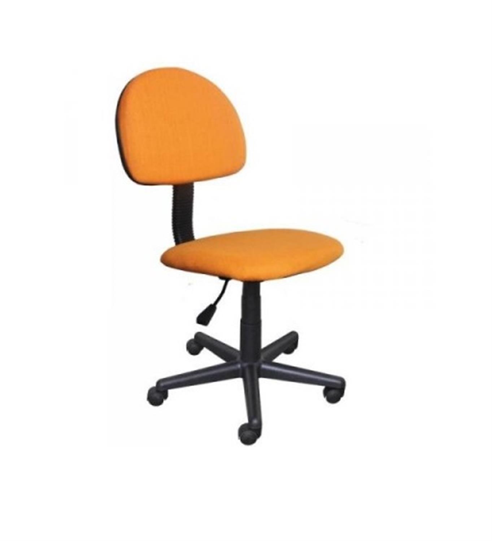 Καρέκλα γραφείου εργασίας με αμορτισέρ και υφασμάτινη επένδυση πορτοκαλί 41x40x81/91cm Home Plus 01.01.0562