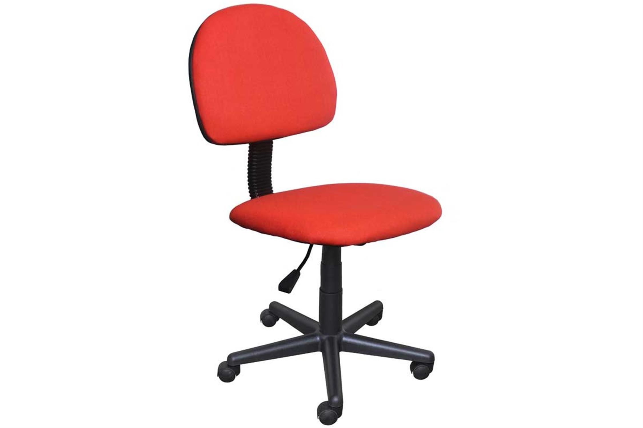 Καρέκλα γραφείου εργασίας με αμορτισέρ και υφασμάτινη επένδυση κόκκινη 41x40x81/91cm Home Plus 01.01.0564