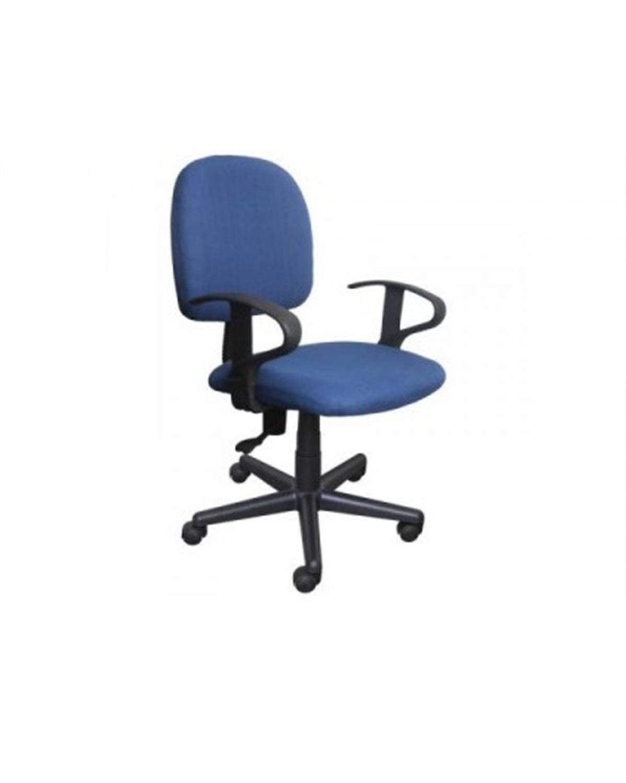 Καρέκλα γραφείου εργασίας με μπράτσα, αμορτισέρ και υφασμάτινη επένδυση μπλε 50x44x84/94cm Home Plus 01.01.0565