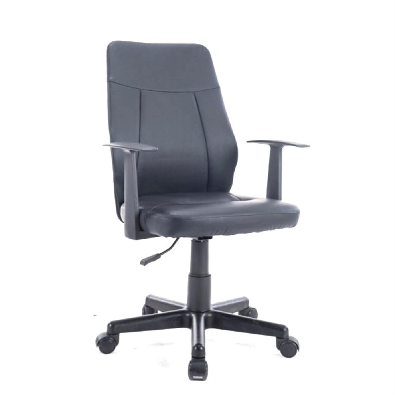 Πολυθρόνα γραφείου με μπράτσα, αμορτισέρ, μηχανισμό relax και υφασμάτινη επένδυση pu μαύρη 55x54x90/100cm Home Plus 01.01.0769