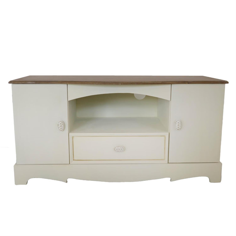 Έπιπλο tv Antique cream ξύλινο κρεμ/καφέ 100x43x51cm Home Plus 01.01.0778