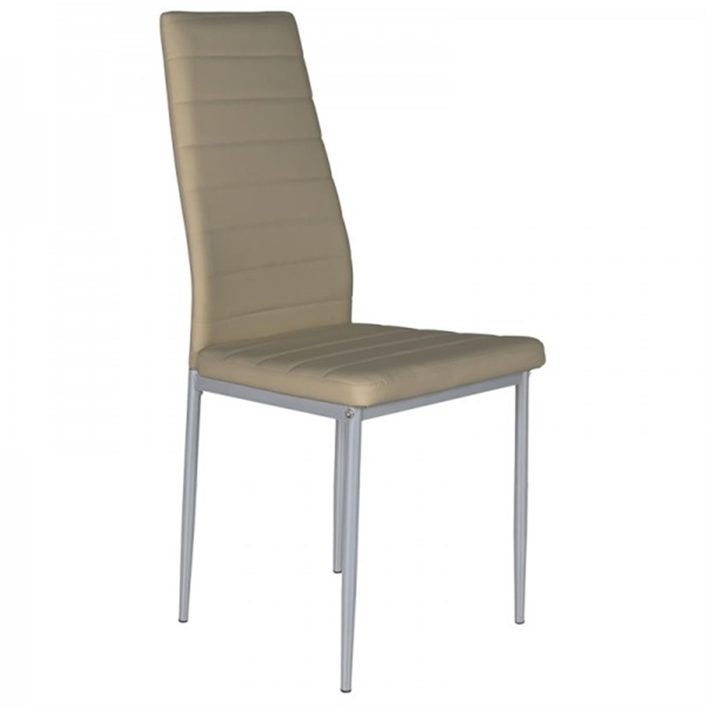 Καρέκλα Marina pvc/μεταλλική γκρι 41x40x97cm Home Plus 01.01.0800