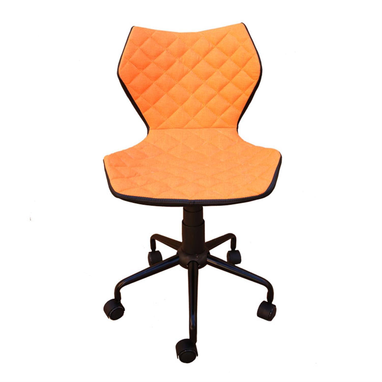 Καρέκλα γραφείου με αμορτισέρ pu καπιτονέ πορτοκαλί 48x56x78/88cm Home Plus 01.01.0811