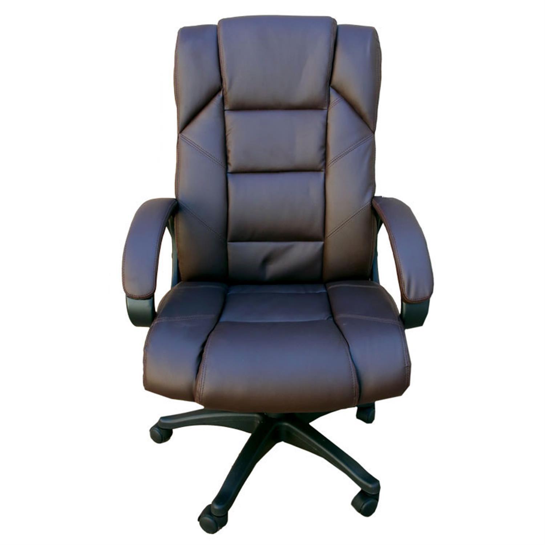 Πολυθρόνα γραφείου Manager με αμορτισέρ, ψηλή πλάτη, μηχανισμό relax και υφασμάτινη επένδυση pu μαύρη 65x70x111/121cm Home Plus