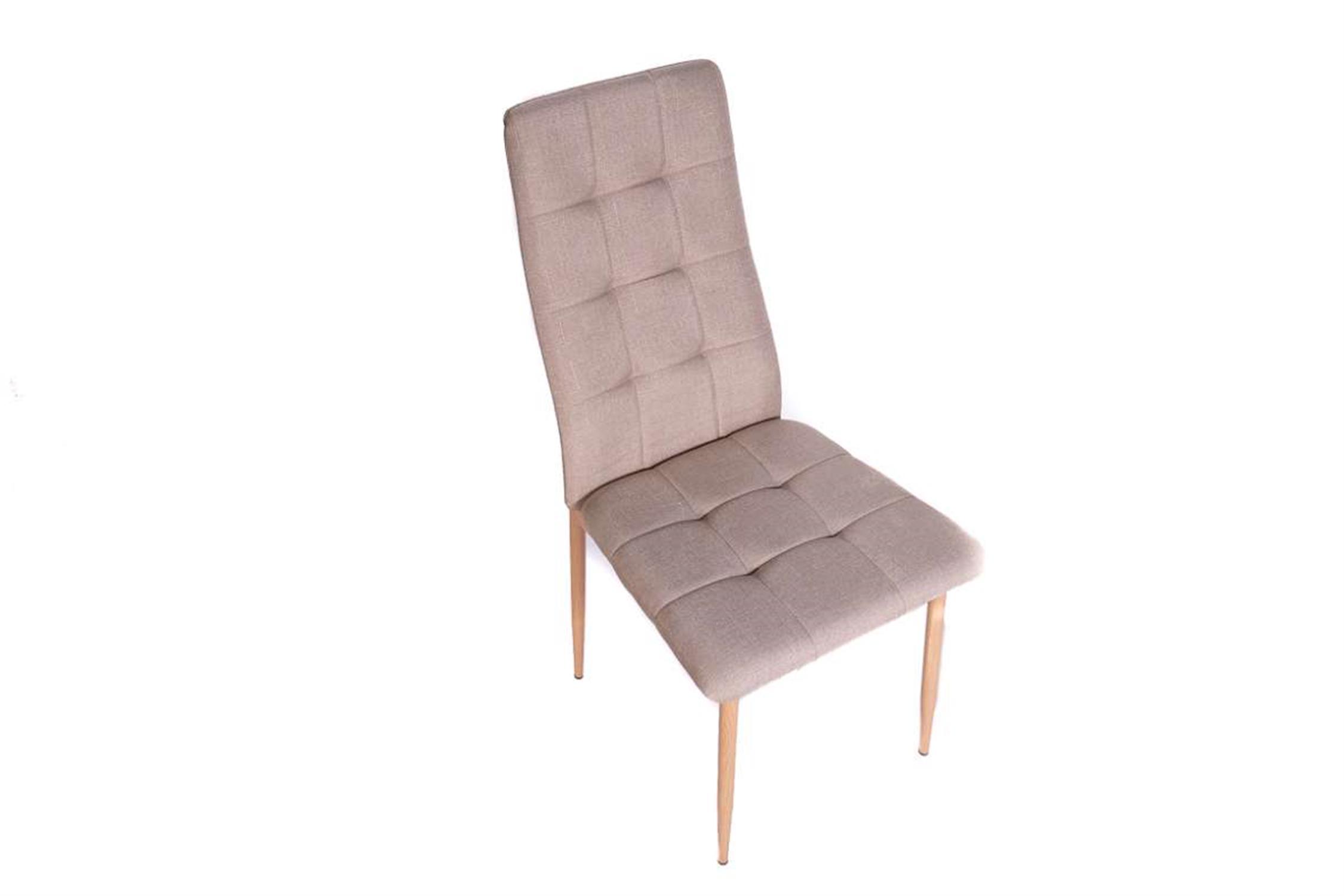 Καρέκλα Rolanda με μεταλλικά πόδια υφασμάτινη μπεζ/natural 46x52x96cm Home Plus 01.01.0882