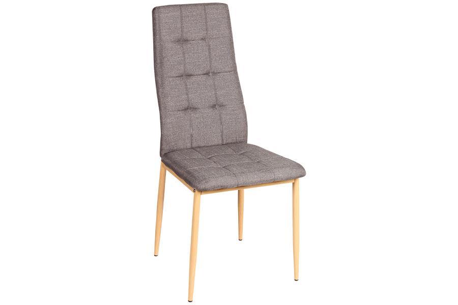 Καρέκλα Rolanda με μεταλλικά πόδια υφασμάτινη γκρι/natural 46x52x96cm Home Plus 01.01.0883