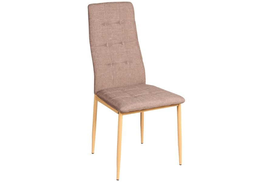 Καρέκλα Rolanda με μεταλλικά πόδια υφασμάτινη χρώμα του πούρου/natural 46x52x96cm Home Plus 01.01.0884