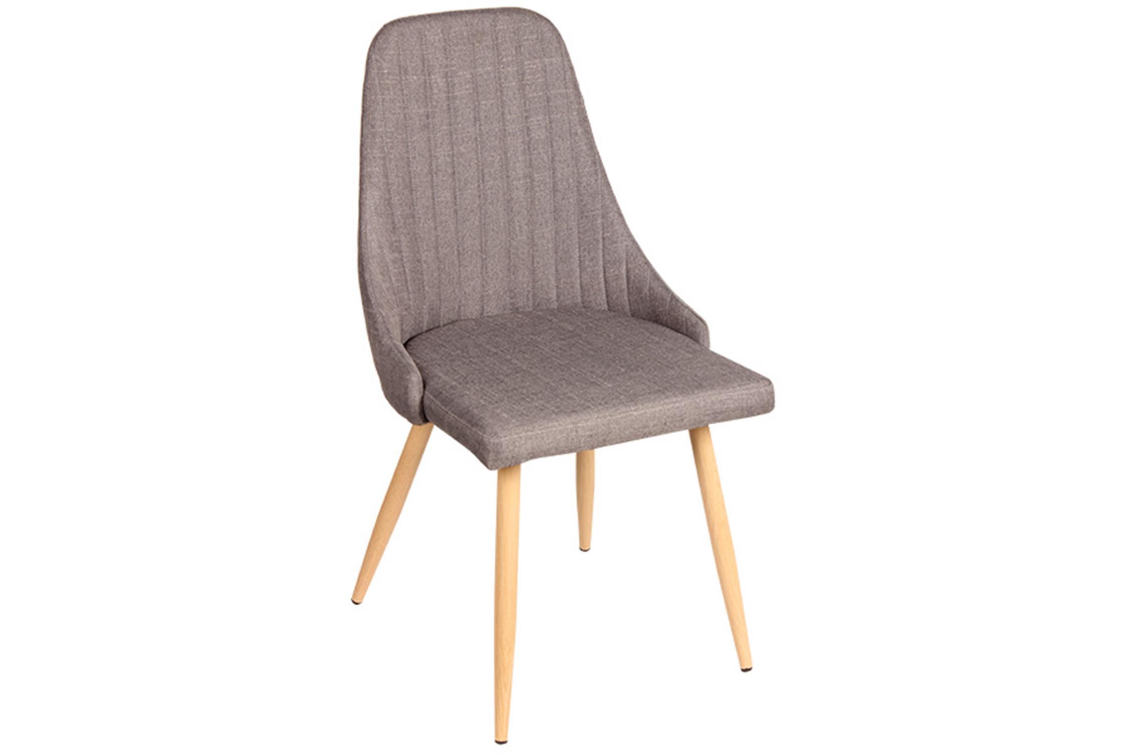 Καρέκλα Carla με μεταλλικά πόδια υφασμάτινη γκρι/natural 49x45x91cm Home Plus 01.01.0885