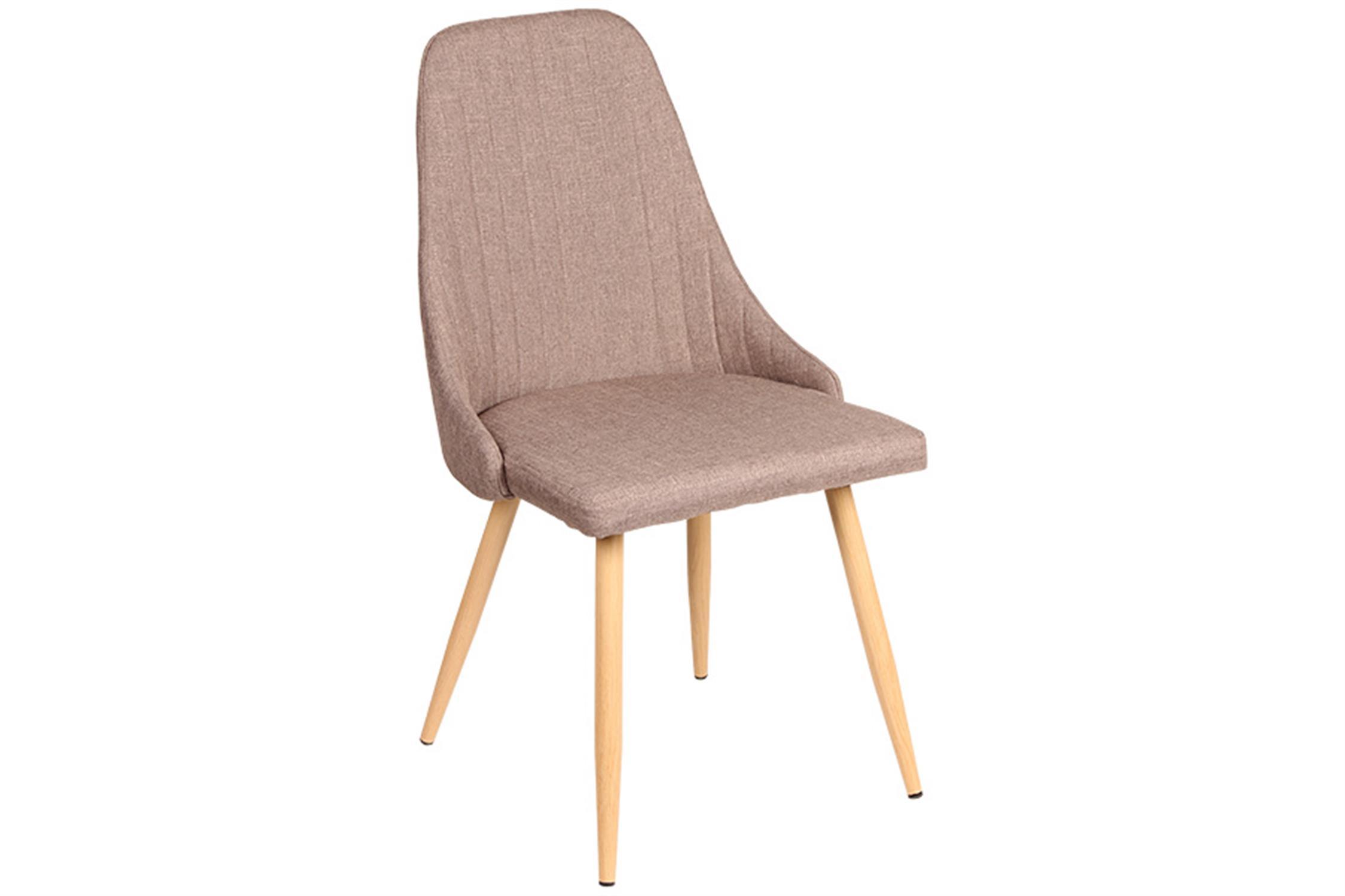 Καρέκλα Carla με μεταλλικά πόδια υφασμάτινη χρώμα του πούρου/natural 49x45x91cm Home Plus 01.01.0886