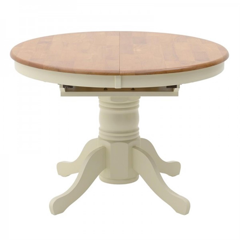 Τραπέζι/Ροτόντα Kentucky ανοιγόμενο ξύλινο decape κρεμ/καφέ 107(150)x107x76cm Home Plus 02.01.0010