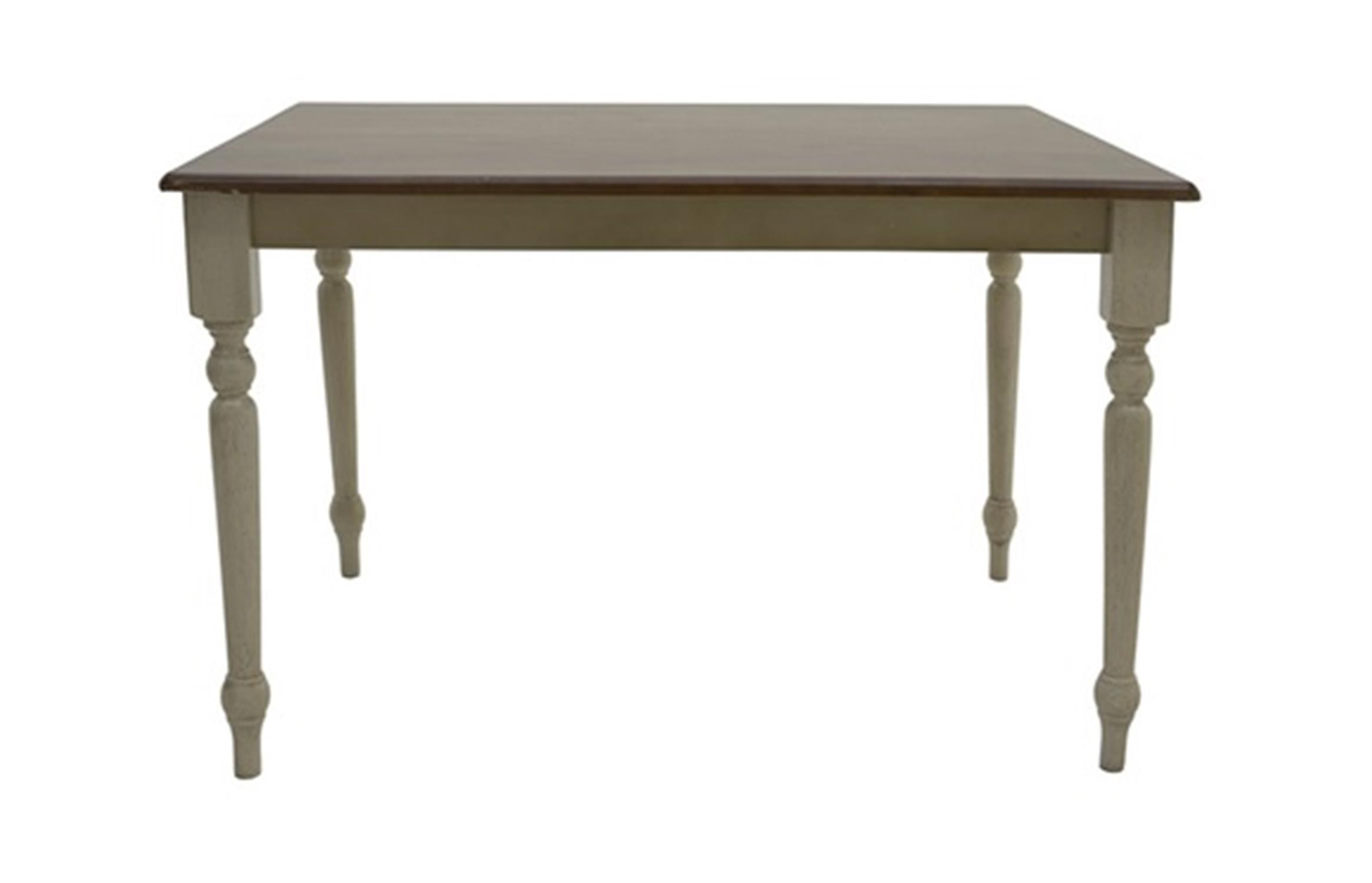 Τραπέζι Oslo ξύλινο decape κρεμ/καφέ 114x74x75cm Home Plus 02.01.0078