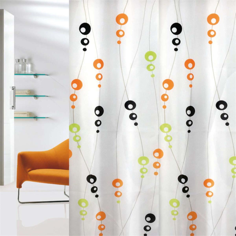 Κουρτίνα μπάνιου Bubbles multi υφασμάτινη πολύχρωμη 180x200cm Home Plus bubbles_multi