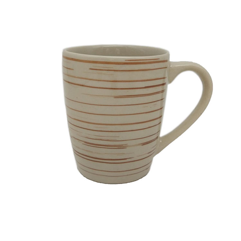 Κούπα Stoneware 340ml κεραμική μπεζ/καφέ Home Plus 01.07.0132-1
