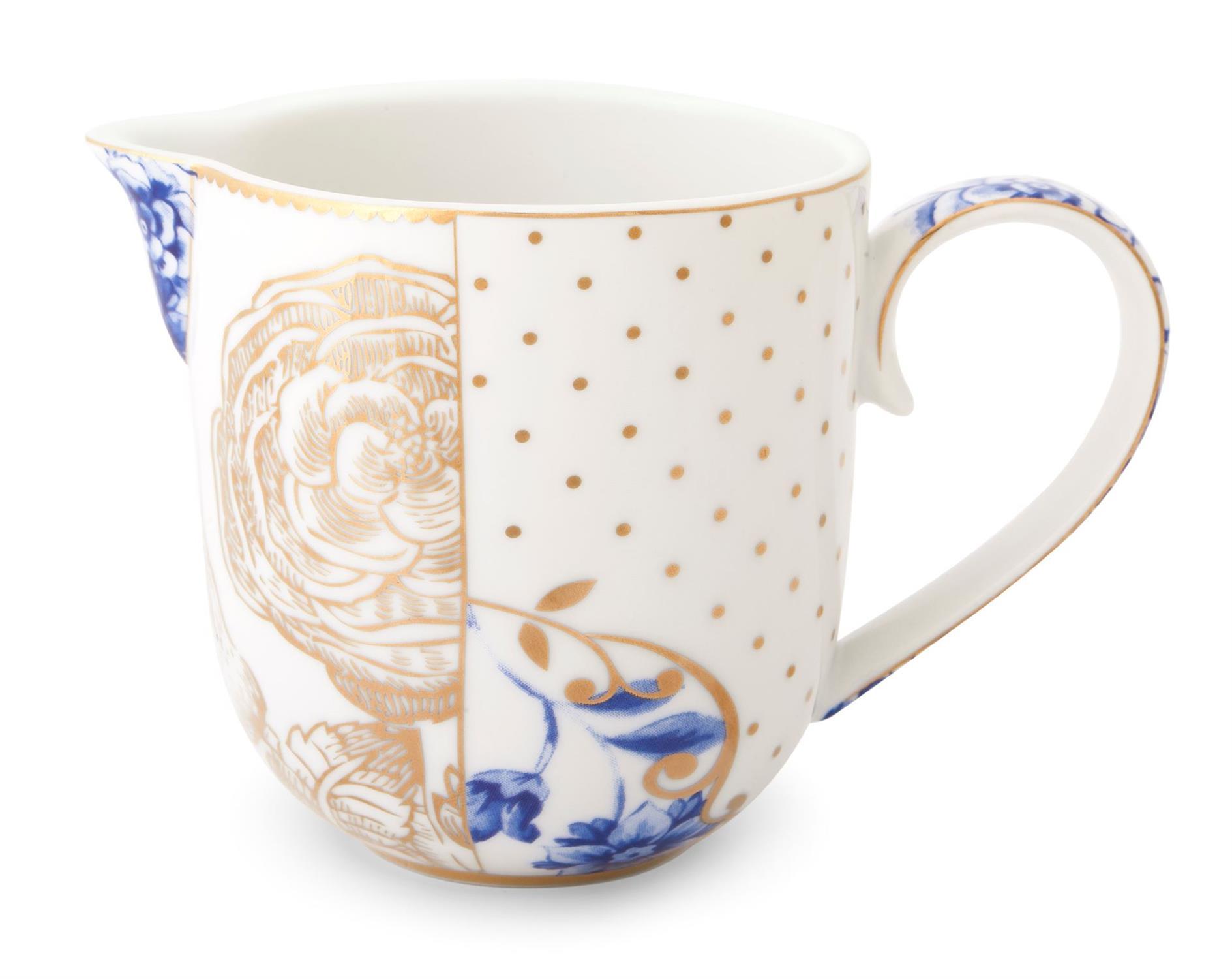 Γαλατιέρα Royal White 260ml πορσελάνινη λευκή/μπλε/χρυσή Pip Studio51007021