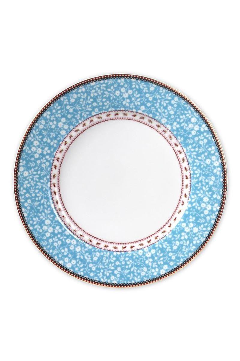 Πιάτο ρηχό Floral πορσελάνινο μπλε Δ-26.5cm Pip Studio 51001005