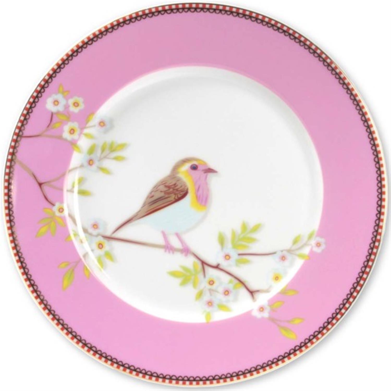 Πιάτο φρούτου Floral πορσελάνινο ροζ Δ-21cm Pip Studio 51001007