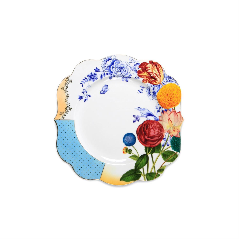 Πιάτο ρηχό Royal Floral πορσελάνινο πολύχρωμο Δ-28cm Pip Studio 51001094