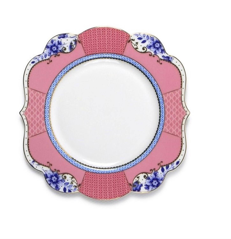 Πιάτο γλυκού Royal Floral πορσελάνινο ροζ Δ-17cm Pip Studio 51001096
