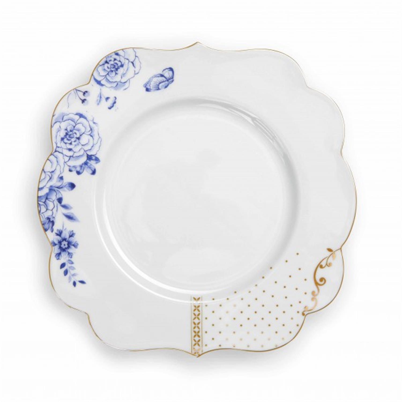 Πιάτο φρούτου Royal White πορσελάνινο λευκό/χρυσό/μπλε Δ-23.5cm Pip Studio 51001134