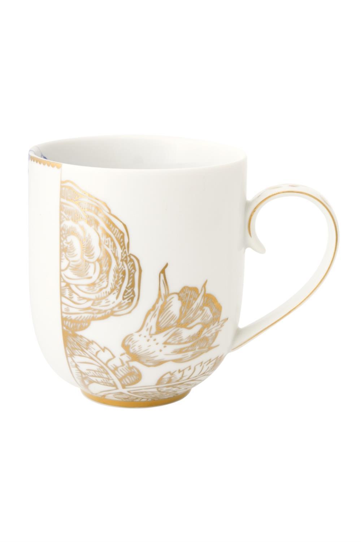 Κούπα Royal White 325ml πορσελάνινη λευκή/χρυσή Pip Studio 51002107