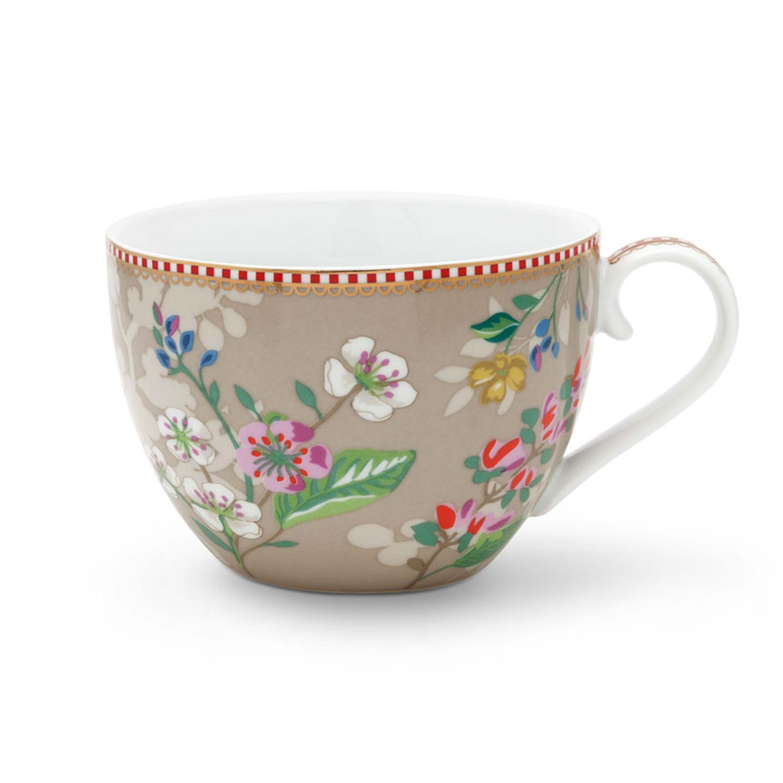 Κούπα Floral Hummingbirds 350ml πορσελάνινη χακί Pip Studio 51002150