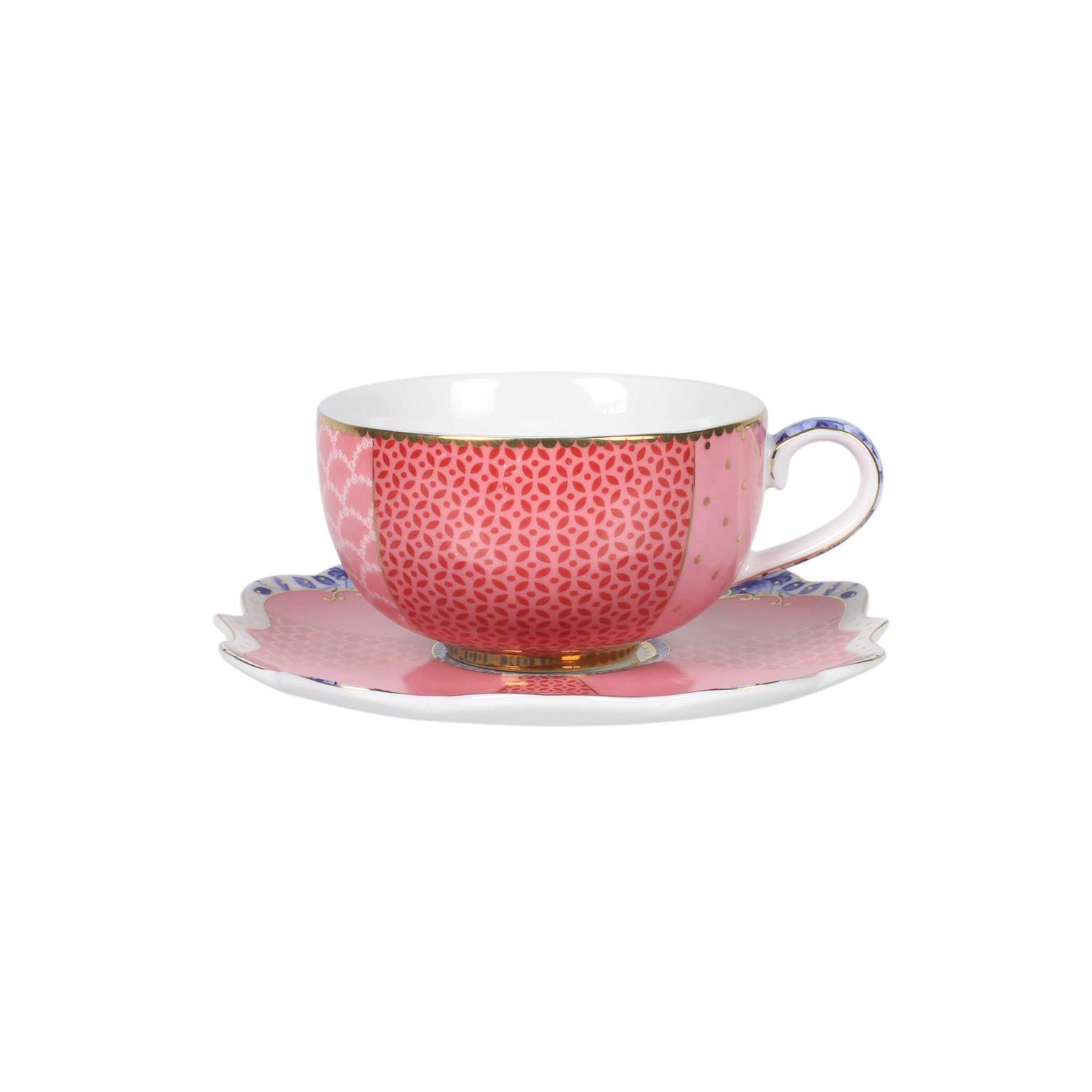 Φλιτζάνι εσπρέσο με πιατάκι Royal Floral 125ml πορσελάνινο ροζ Pip Studio 51004026