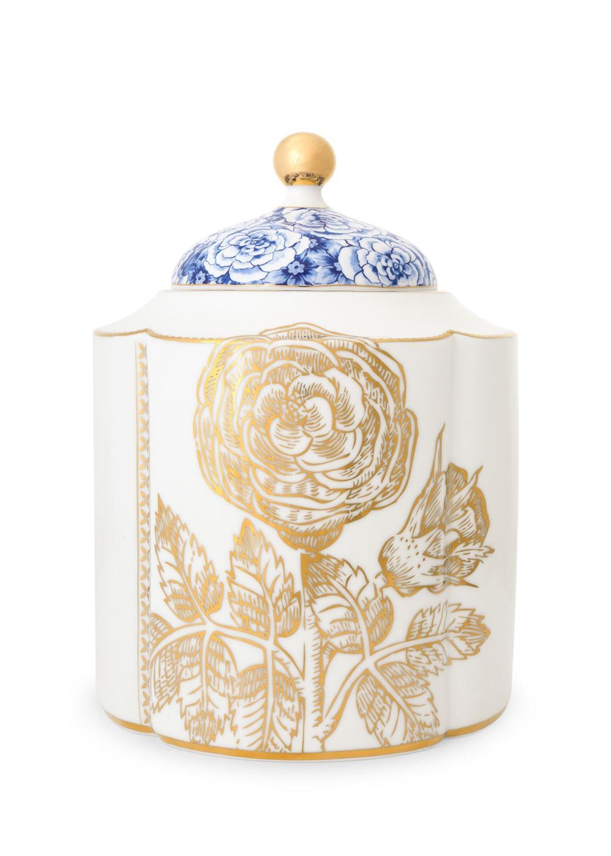 Βάζο αποθήκευσης Royal White 1900ml πορσελάνινο λευκό/χρυσό/μπλε Pip Studio 51009015