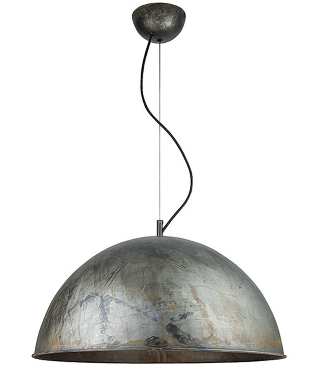 Φωτιστικό κρεμαστό μονόφωτο καμπάνα μεταλλικό σε απόχρωση παλαιού σιδήρου Zambelis 16122