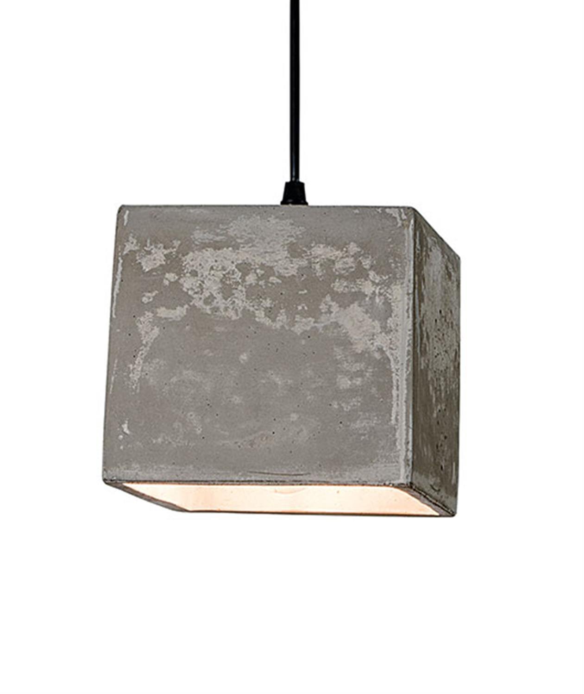 Φωτιστικό κρεμαστό μονόφωτο τετράγωνο σε γκρι απόχρωση Zambelis 1658
