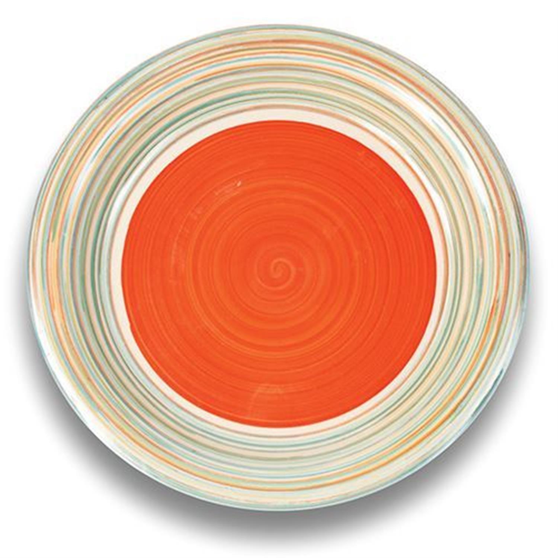 Πιάτο ρηχό stoneware πορτοκαλί Δ27cm Nava 10-099-001