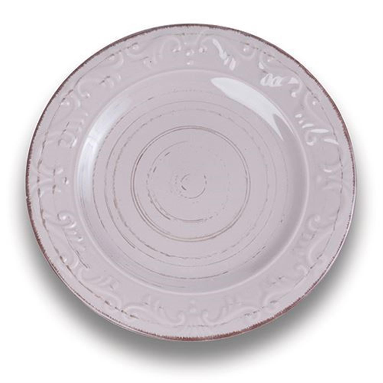 Πιάτο φρούτου stoneware washed γκρι Δ20.5cm Nava 10-099-061