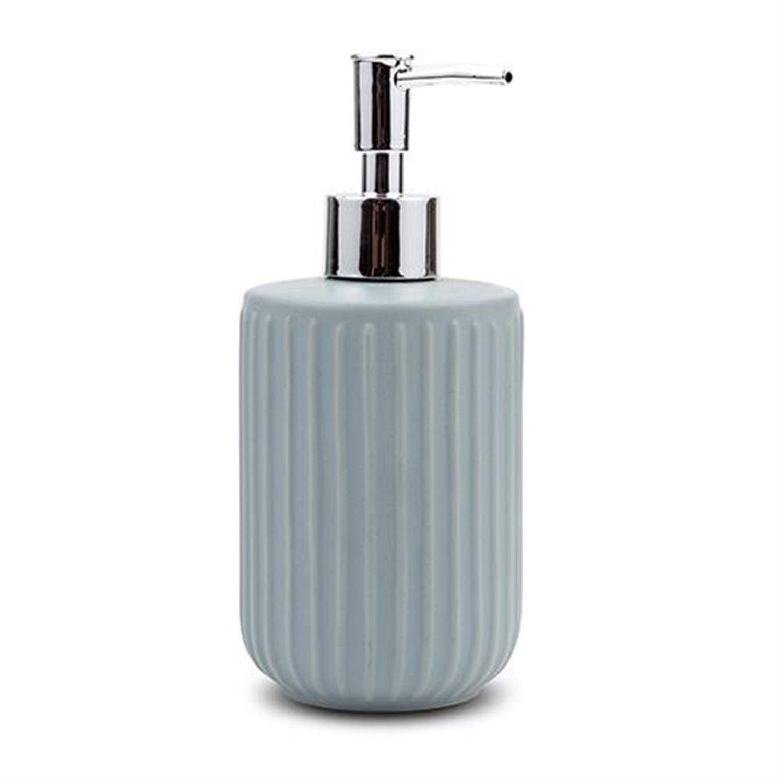Ντισπένσερ μπάνιου 42ml stoneware μπλε 8x8x18.5cm Nava 10-222-001