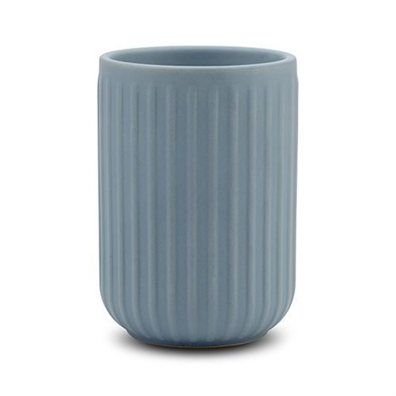 Θήκη για οδοντόβουρτσες 35ml stoneware μπλε 8x8x11.5cm Nava 10-222-002