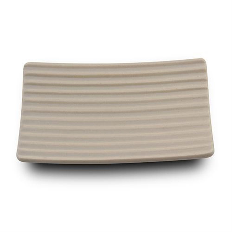Σαπουνοθήκη stoneware μπεζ 13.7×8.7x2cm Nava 10-222-012