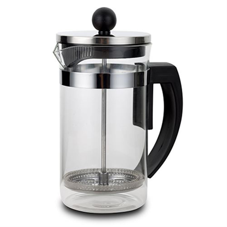Καφετιέρα για καφέ φίλτρου και τσάι με έμβολο Acer 600ml ανοξείδωτη/γυάλινη μαύρη 14.5x10x18.5cm Nava 10-225-002