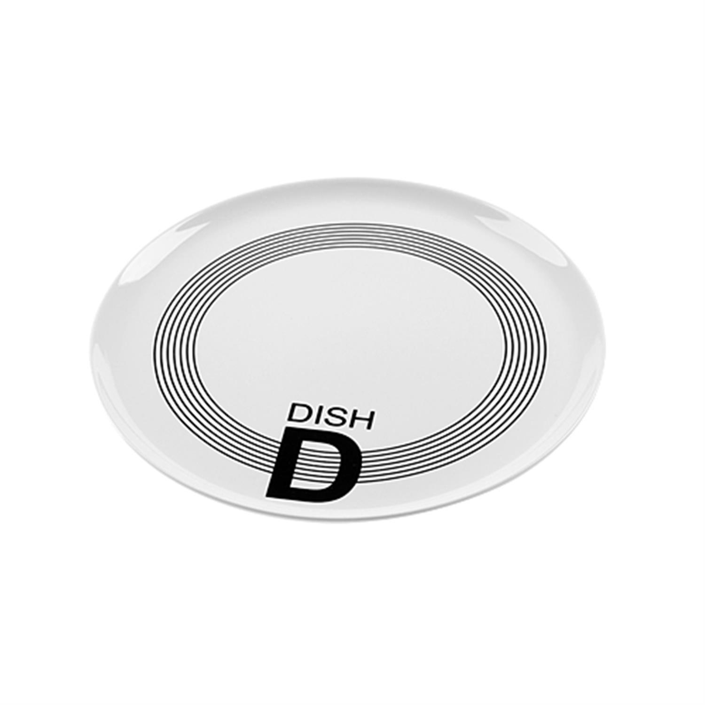 Πιατέλα σερβιρίσματος Lines black πορσελάνινη λευκή/μαύρη 31.5×31.5×1.8cm Nava HP0881R-837B