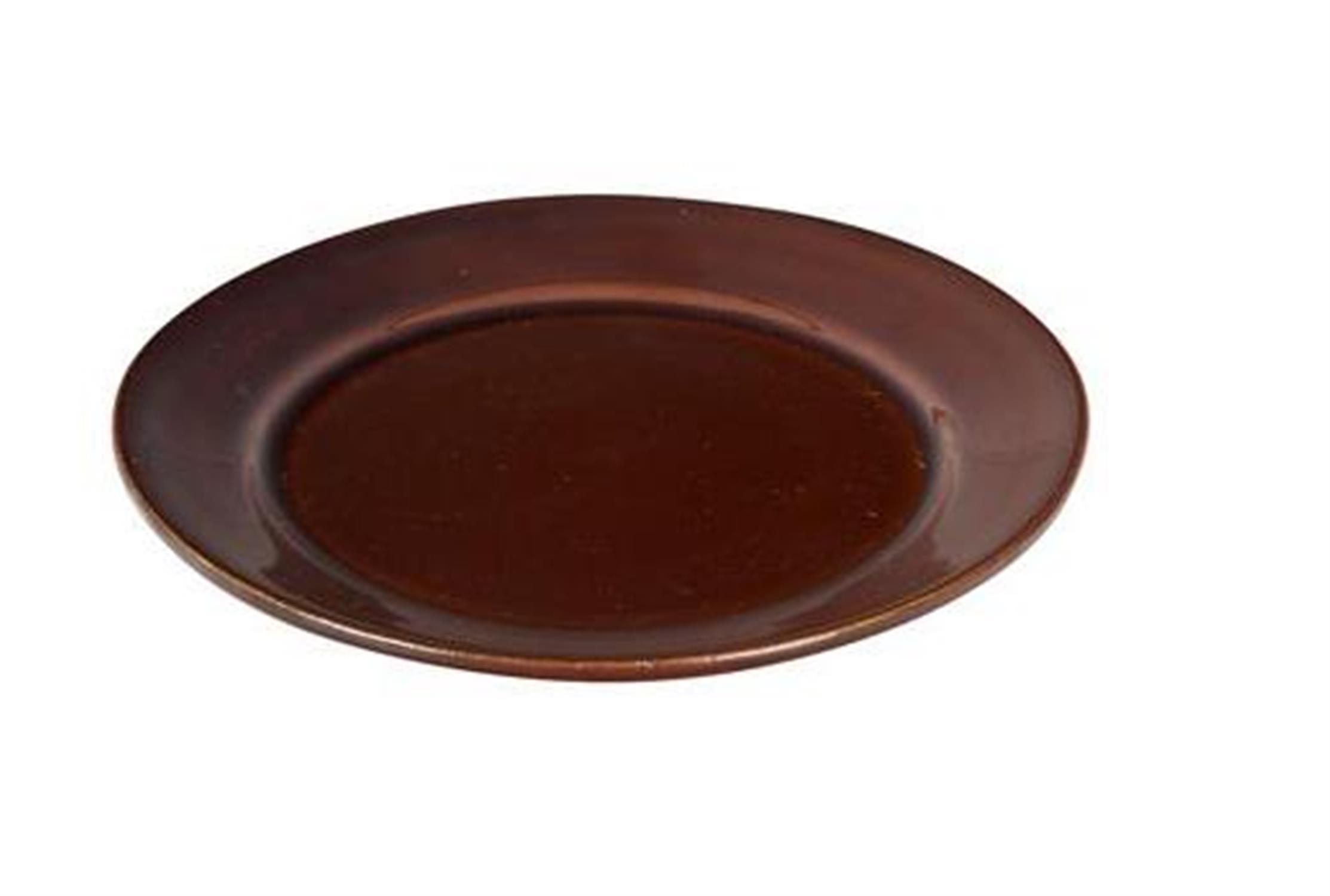 Πιάτο κεραμικό καφέ για γιουβέτσι 18cm Venus 25353
