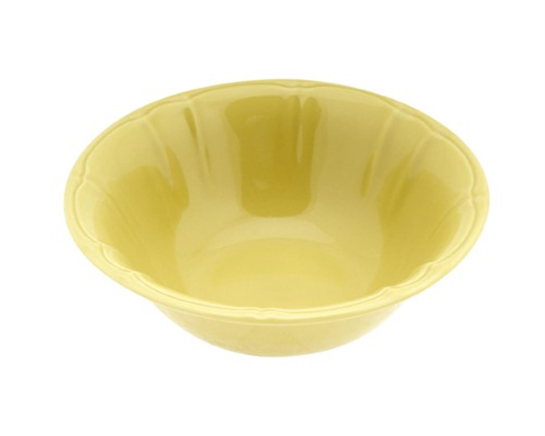 Σαλατιέρα stoneware κίτρινη 23cm Venus 89573