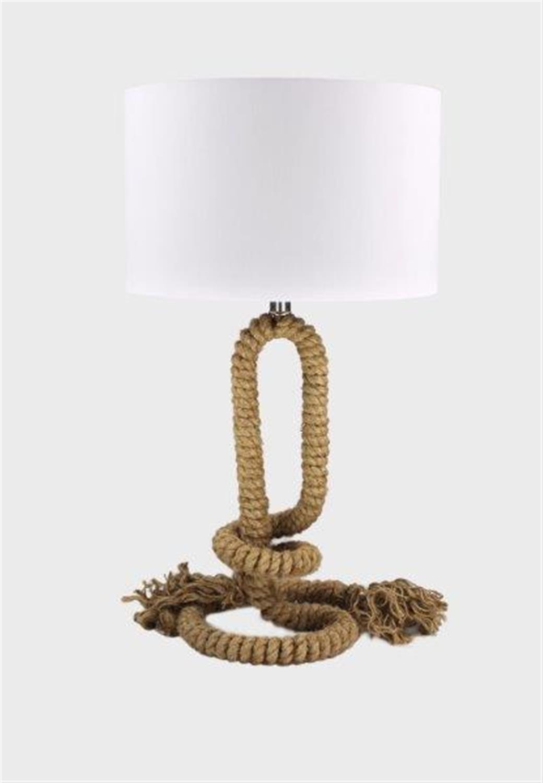 Φωτιστικό επιτραπέζιο σχοινί/ύφασμα καφέ/λευκό 36x65cm Inlight 3424